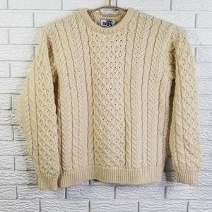 John Malloy Wool Fisherman Sweater M Ireland